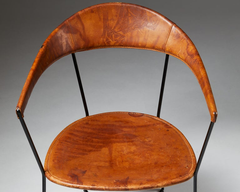 Steel Armchair Designed by Ivar Callmander, Sweden, 1930s For Sale