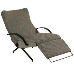 Armchair Designed by Osvaldo Borsani Metal Fabric Vintage Italy 1950s