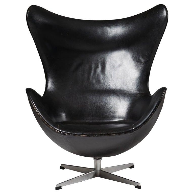 """Armchair """"Egg Chair"""" Designed by Arne Jacobsen for Fritz Hansen, Denmark, 1958 For Sale"""