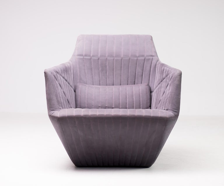 Quilted Armchair Facett by Ronan & Erwan Bouroullec for Ligne Roset For Sale
