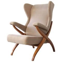 "Armchair ""Fiorenza"" designed by Franco Albini in 1952 for Arflex, Italy."