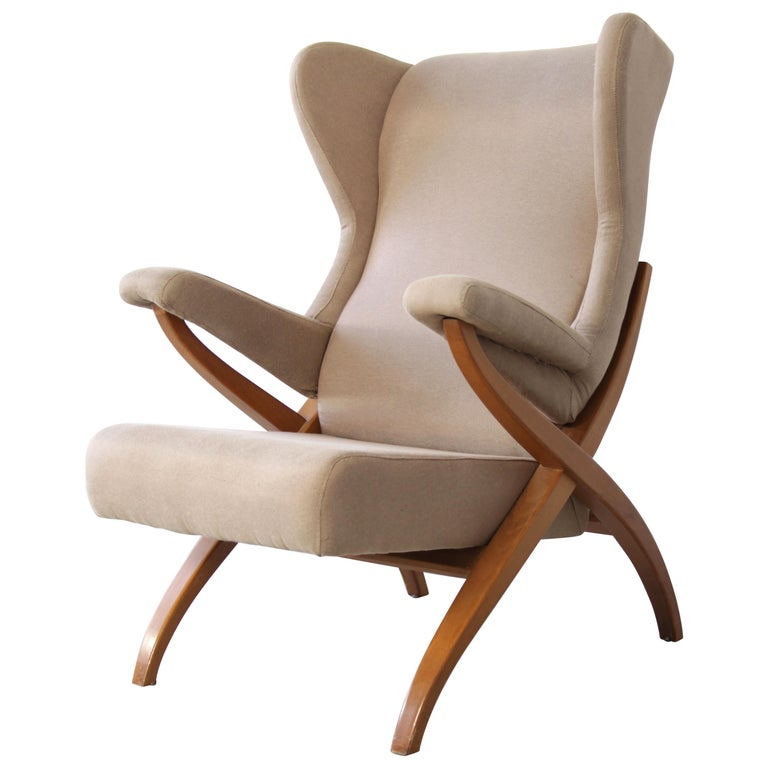 """Armchair """"Fiorenza"""" designed by Franco Albini in 1952 for Arflex, Italy. For Sale"""