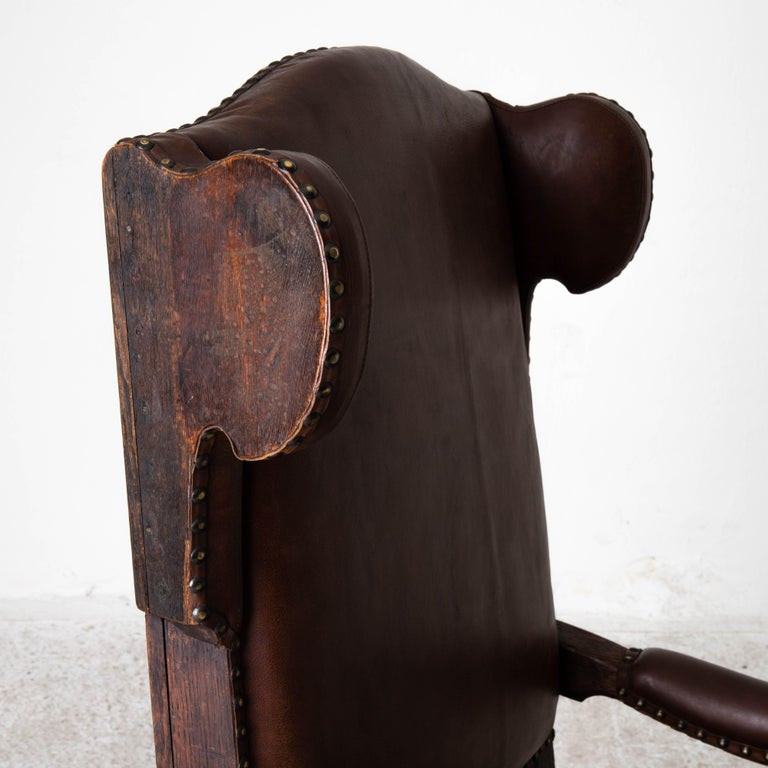 Armchair French Wingback Rococo Period 18th Century France For Sale 7