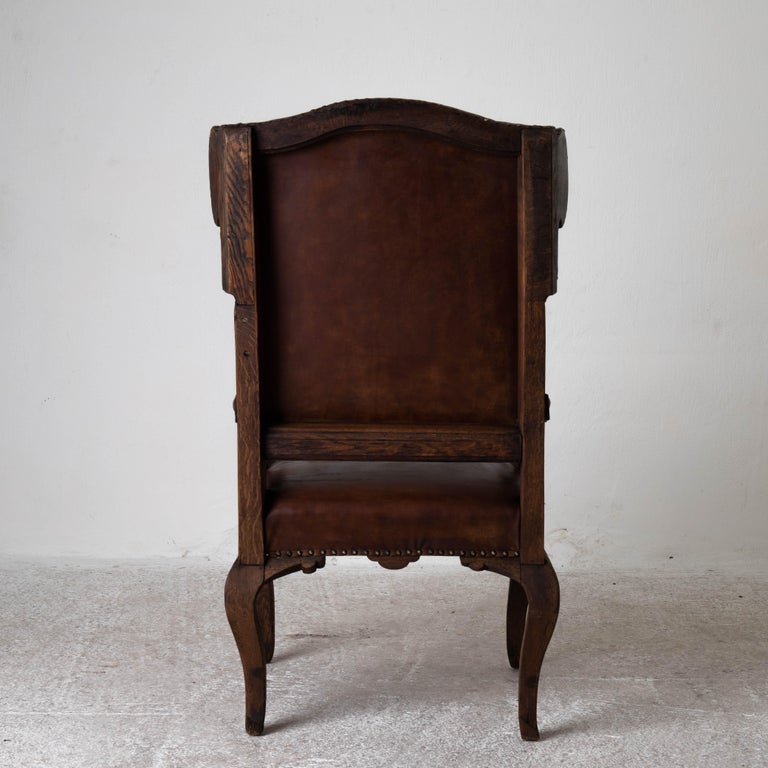 Armchair French Wingback Rococo Period 18th Century France For Sale 2
