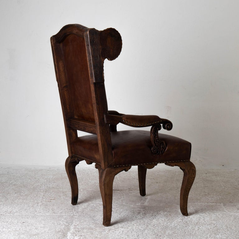 Armchair French Wingback Rococo Period 18th Century France For Sale 3