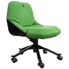 Armchair Green P55 by Giorgetto Giugiaro for Tecno, Office Chair, Italy, 1980s