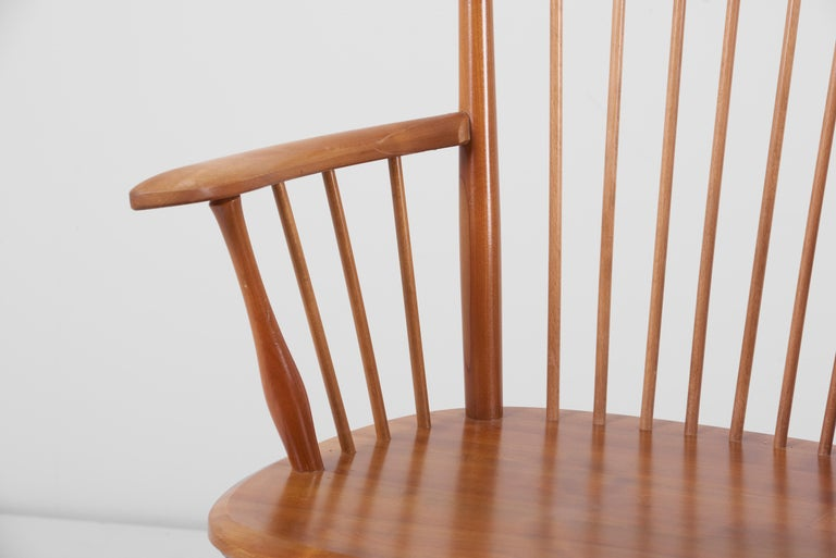 Armchair in Solid Wood by Albert Haberer for Hermann Fleiner, Germany, 1950s For Sale 4