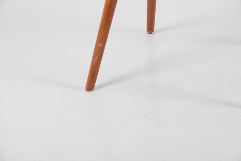 Armchair in Solid Wood by Albert Haberer for Hermann Fleiner, Germany, 1950s For Sale 5