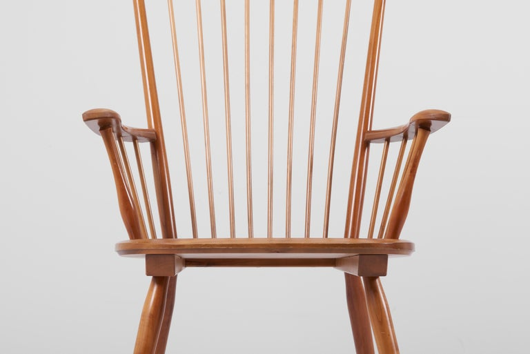 Armchair in Solid Wood by Albert Haberer for Hermann Fleiner, Germany, 1950s For Sale 6