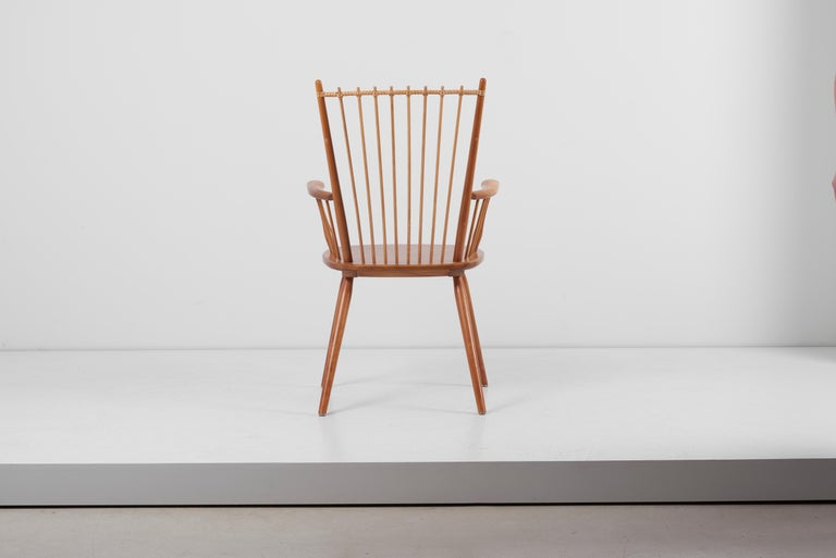 20th Century Armchair in Solid Wood by Albert Haberer for Hermann Fleiner, Germany, 1950s For Sale