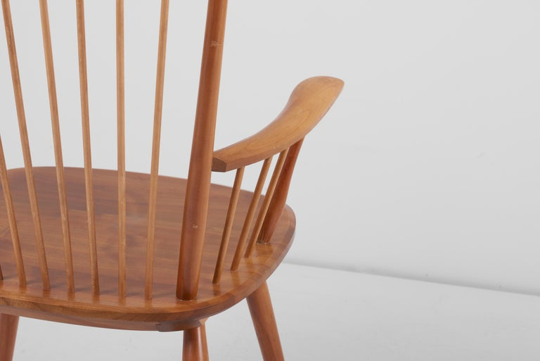 Armchair in Solid Wood by Albert Haberer for Hermann Fleiner, Germany, 1950s For Sale 1