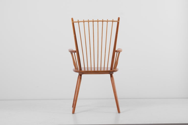Armchair in Solid Wood by Albert Haberer for Hermann Fleiner, Germany, 1950s For Sale 2
