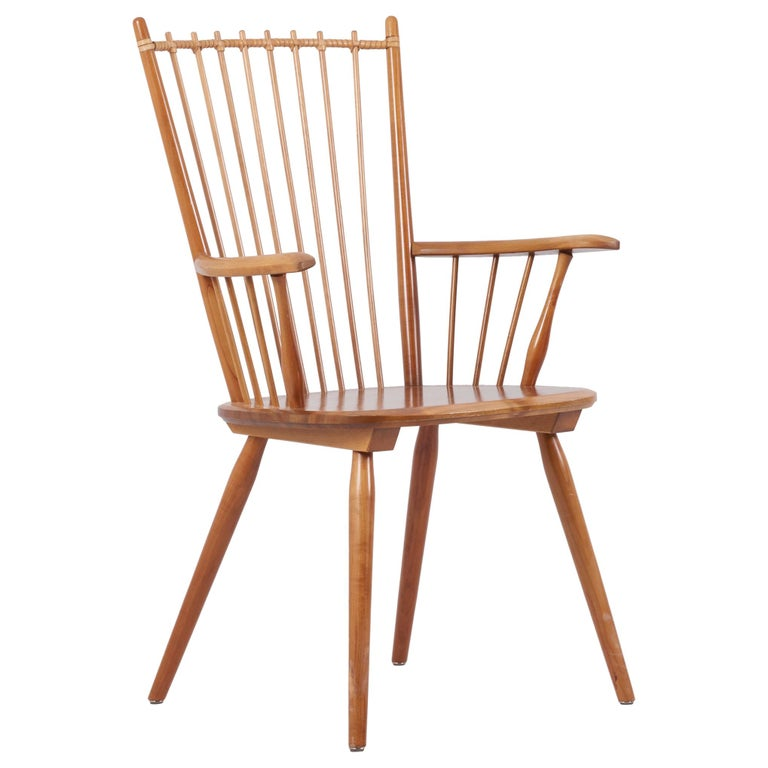 Armchair in Solid Wood by Albert Haberer for Hermann Fleiner, Germany, 1950s For Sale