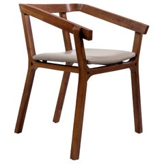 Armchair in Walnut Hardwood by Obiect, Mexican Contemporary Design