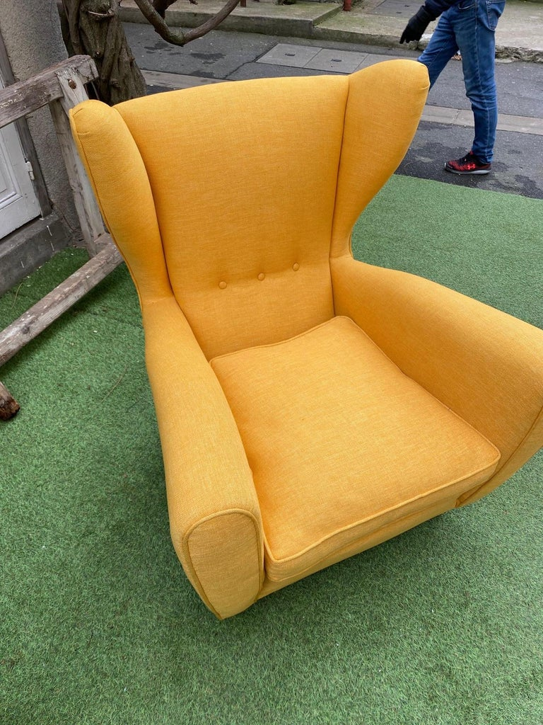 Armchair, Italy, 1950s-1960s, in the Taste of Paolo Buffa In Good Condition For Sale In Paris, FR