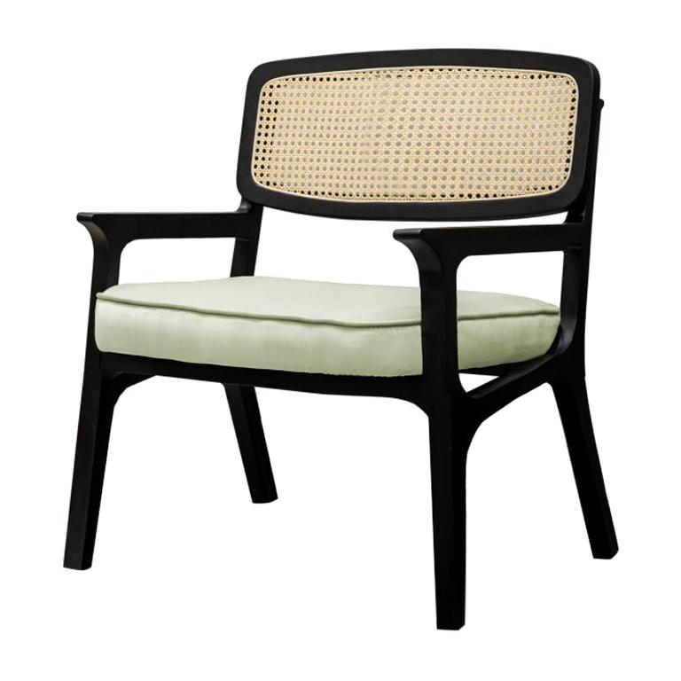 Armchair Karl in Solid Wood and Upholstery New