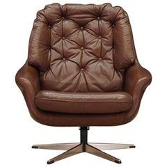Armchair Leather Danish Design Vintage