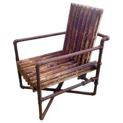 Armchair Made Out of Two Old Heaters