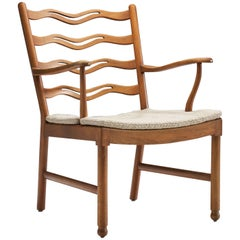 "Armchair ""Model 1755"" by Ole Wanscher for Fritz Hansen, Denmark 1940s"