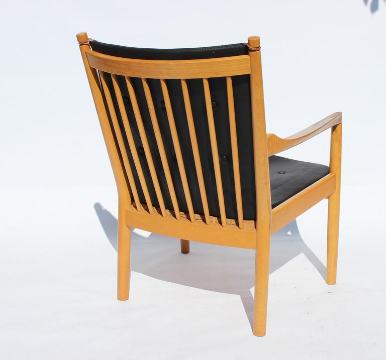 Armchair, Model 1788, of Beech by Hans J. Wegner and Fritz Hansen, 1978 In Good Condition For Sale In Lejre, DK
