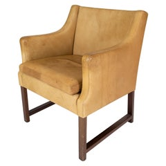 Armchair, Model 3246, Upholstered with Light Leather by Børge Mogensen, 1960s