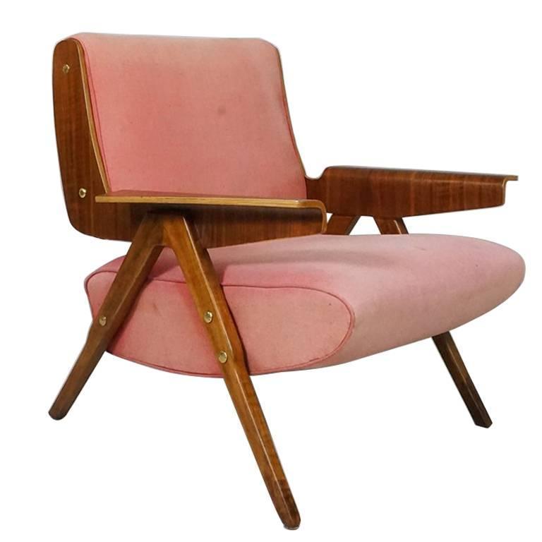Armchair Model 831 by Gianfranco Frattini, Cassina, Italy, 1955