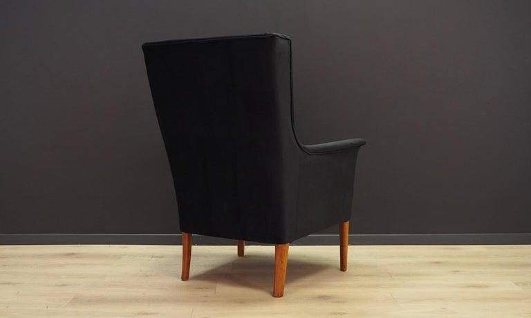 Velvet Armchair Retro 1960-1970 Scandinavian Design For Sale