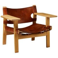 """Armchair """"Spanish"""" Designed by Børge Mogensen for Erhard Rasmussen, Denmark"""