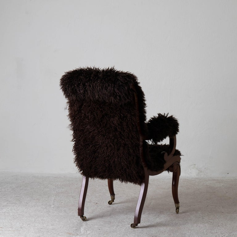 Armchair Sweden Late 19th Century Brown Swedish For Sale 2