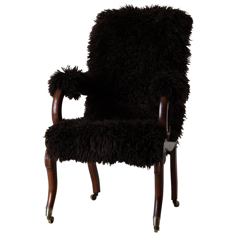 Armchair Sweden Late 19th Century Brown Swedish For Sale
