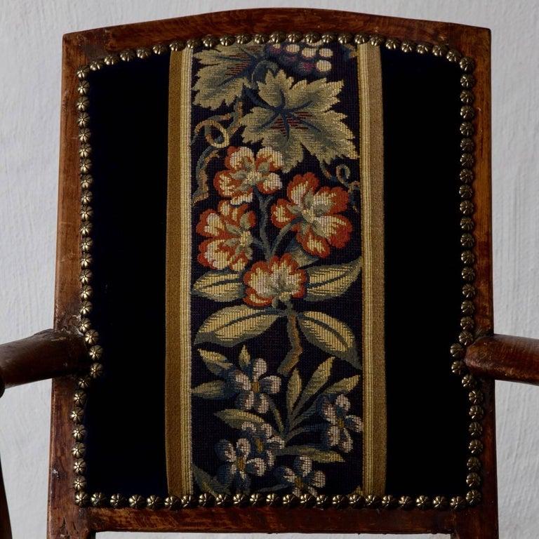 18th Century Armchair Swedish Baroque Oak Sweden For Sale