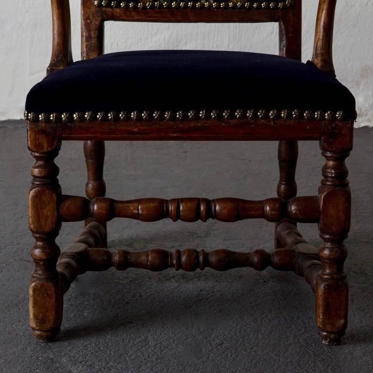 Armchair Swedish Baroque Oak Sweden For Sale 1