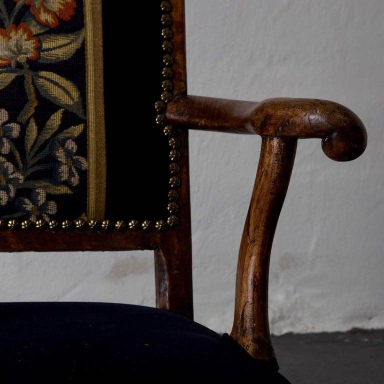 Armchair Swedish Baroque Oak Sweden For Sale 2