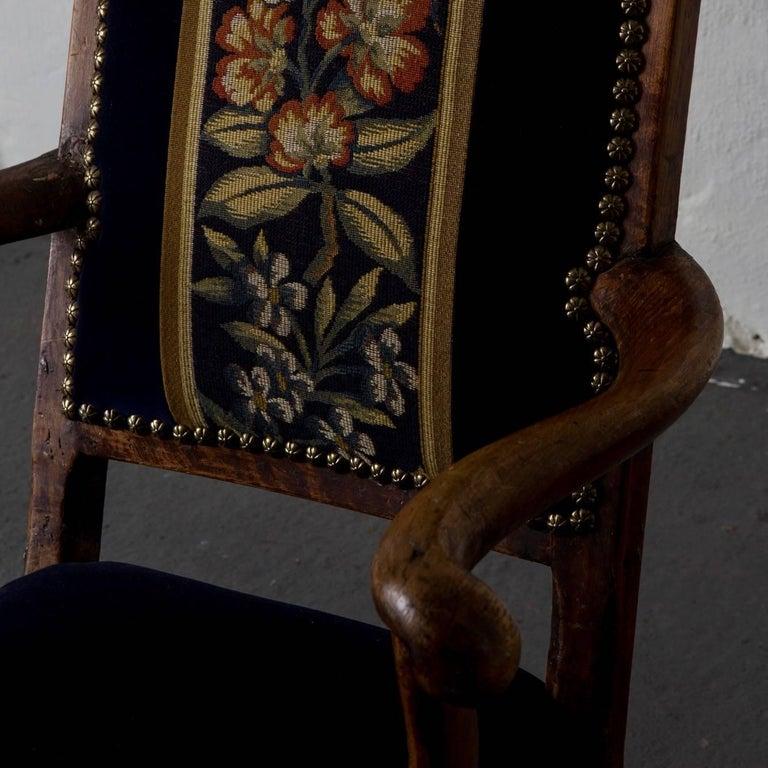 Armchair Swedish Baroque Oak Sweden For Sale 3