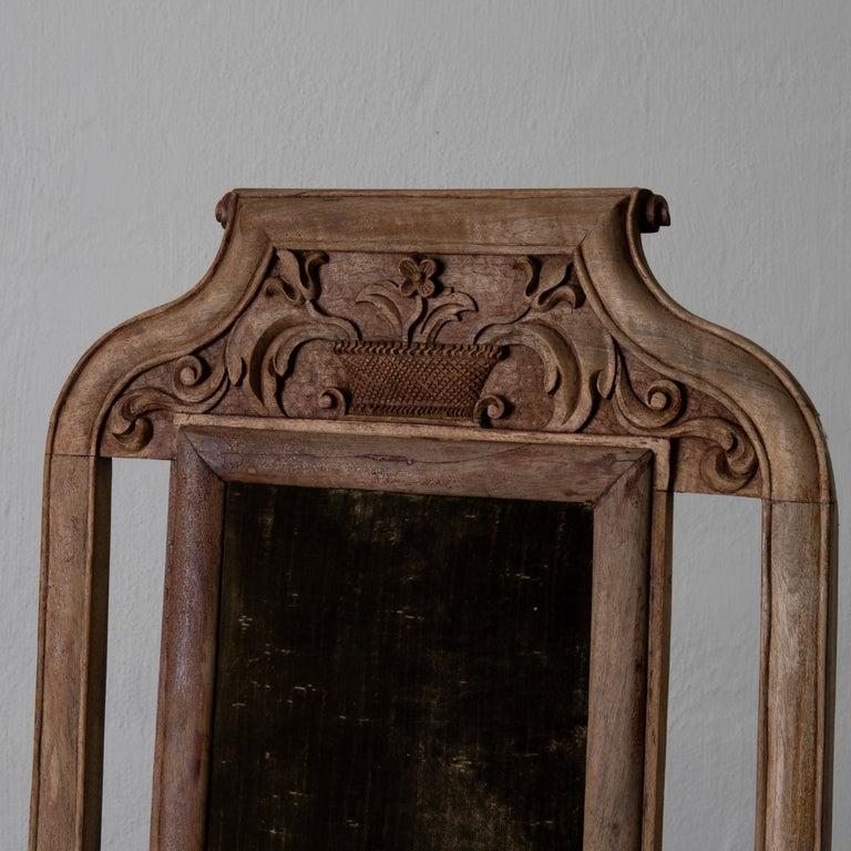 Armchair Swedish Baroque Wood Green Velvet Sweden For Sale 2