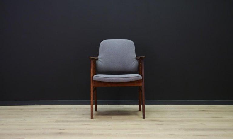 Sessel Teak Vintage Dänisches Design Grau Im Angebot Bei 1stdibs
