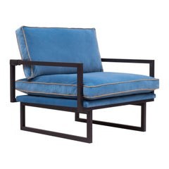 GHYCZY Armchair Brad GP01 Charcoal, Blue, Leather details