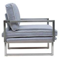 GHYCZY Armchair Brad GP01, Stainless Steel Matt, Minimalist Style