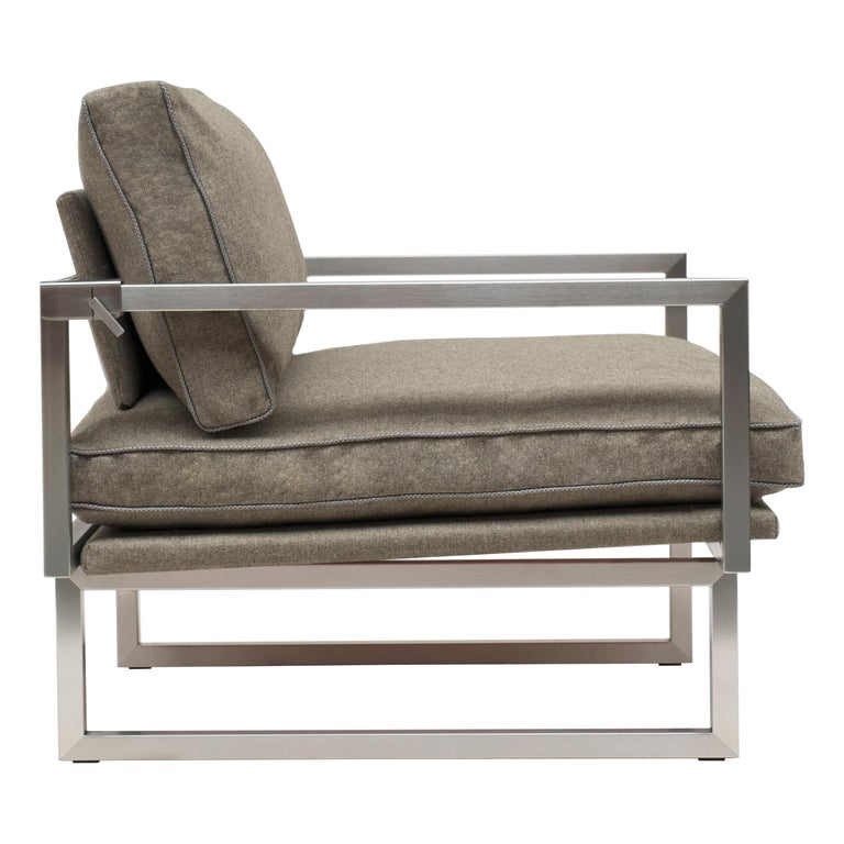 GHYCZY Chair Brad GP01 Stainless Steel Matt, Natural Classics Style For Sale