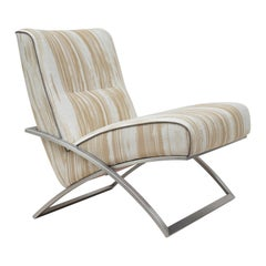 GHYCZY Armchair Wave GP03 Stainless Steel Matt, Natural Classics Style