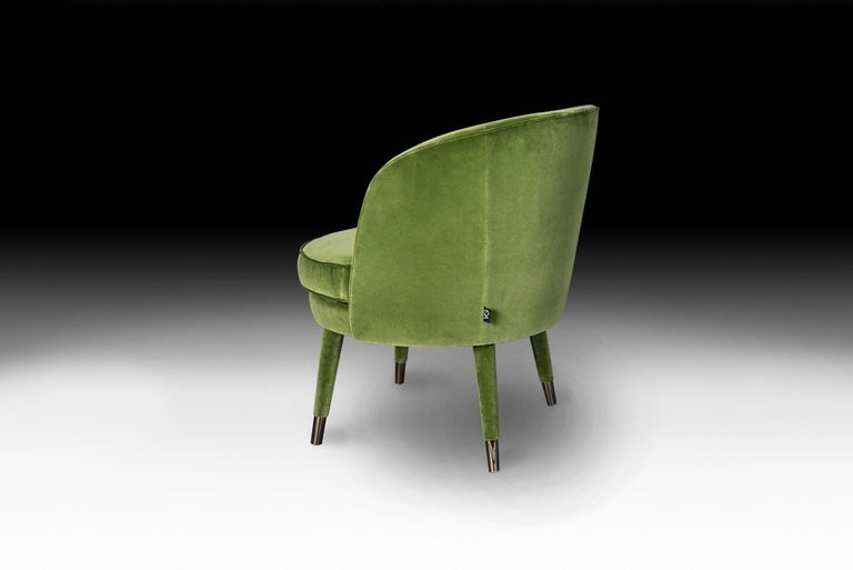 Armchair Vivien, Velvet and Metal, Italy In New Condition For Sale In Quinto di Treviso, Treviso