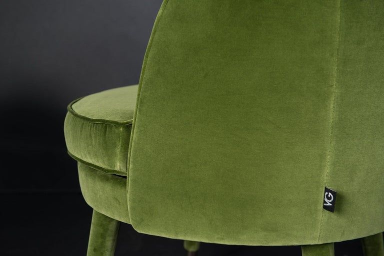 Contemporary Armchair Vivien, Velvet and Metal, Italy For Sale