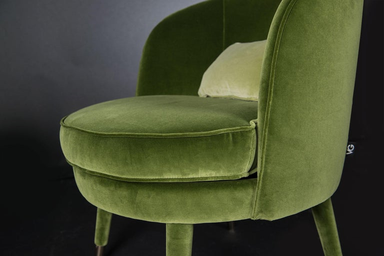 Fabric Armchair Vivien, Velvet and Metal, Italy For Sale