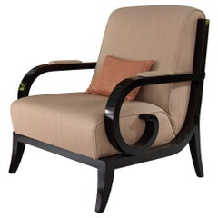Armchair with Black Finish