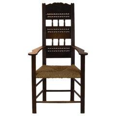 Armchair with High Backrest Oakwood, 1916