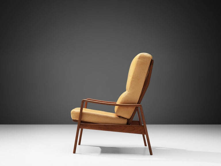 Mid-20th Century Arne Wahl Iversen Armchair with Ottoman For Sale
