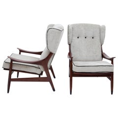 Armchairs Attributed to Framar, Italy, 1950s