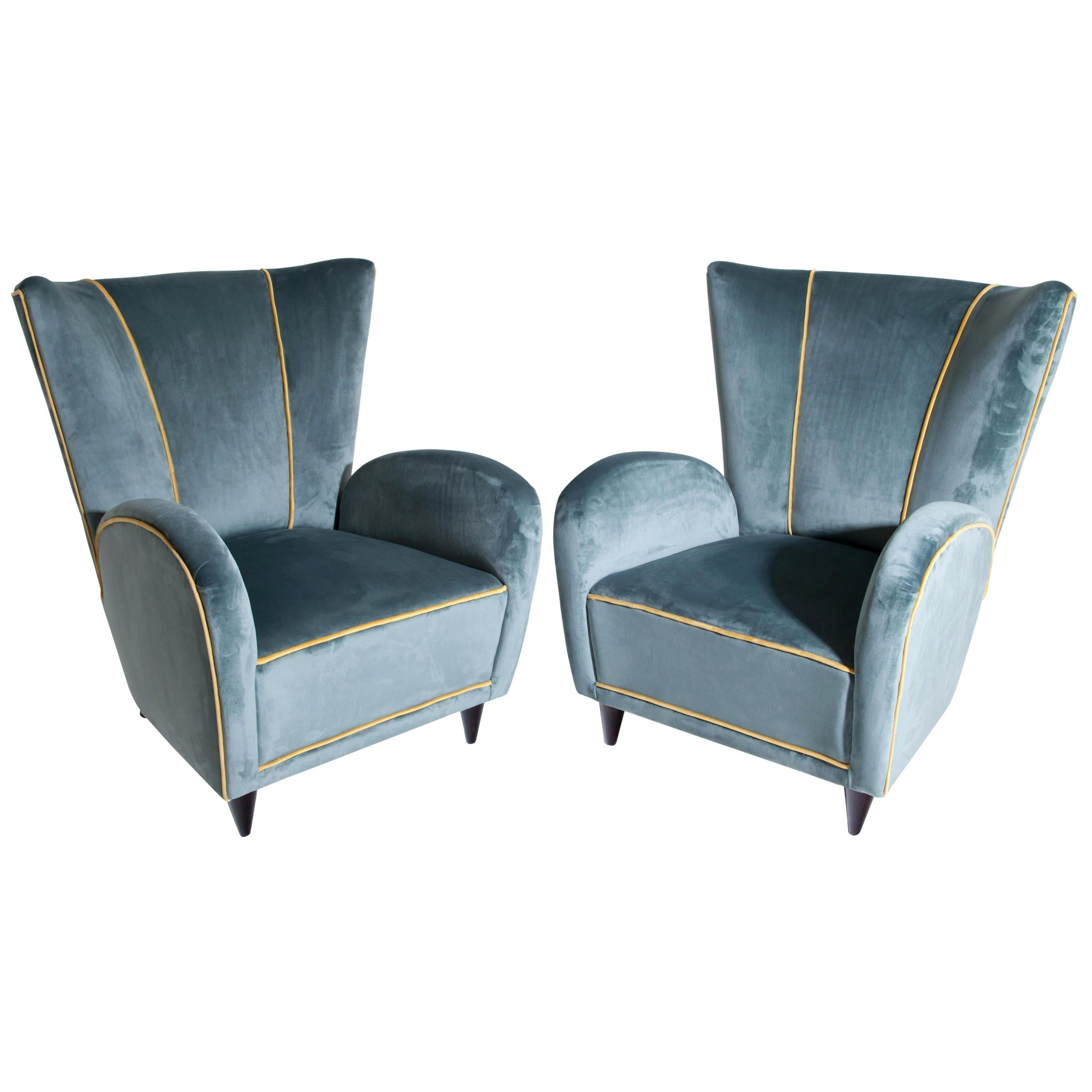Armchairs, Attributed to Paolo Buffa, Italy, 1950s