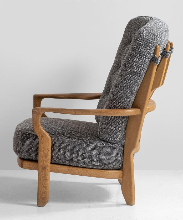 20th Century Armchairs by Guillerme & Chambron For Sale