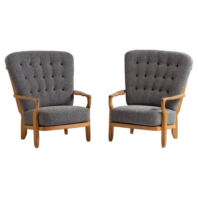 Armchairs by Guillerme & Chambron For Sale